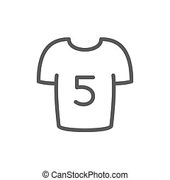 Soccer players shirt line icon. Isolated on white background