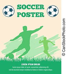 Soccer players vector poster template