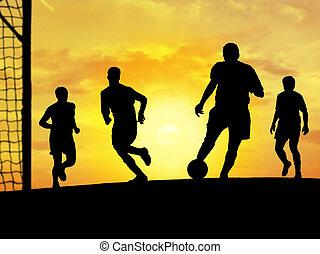 Soccer - Playing soccer