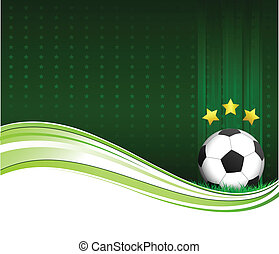 Illustration of a soccer poster with a football on it. Eps version 10.