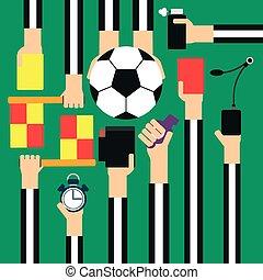 Soccer referee design flat