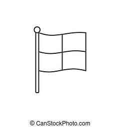Soccer referee flag icon, outline style