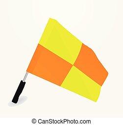 Soccer referee flag