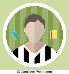 Soccer Referee Icon