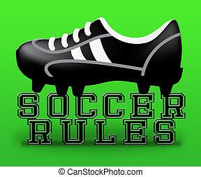 Soccer Rules Means Football Regulations 3d Illustration