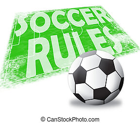 Soccer Rules Shows Football Regulations 3d Illustration