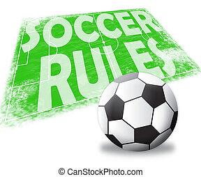 Soccer Rules Shows Football Regulations 3d Illustration