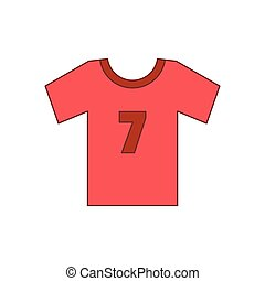 Soccer shirt icon, cartoon style - Soccer shirt icon....