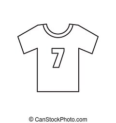 Soccer shirt icon, outline style - Soccer shirt icon....