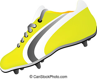 soccer shoe and ball
