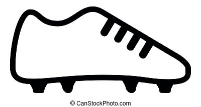 Soccer shoe icon on a white background, Vector illustration