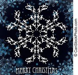 Soccer Silhouette Christmas Snowflake