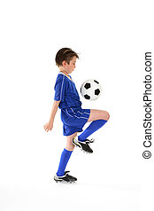 Soccer skills - Learning ball controll by practicing various...