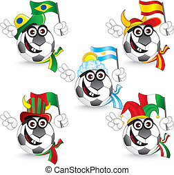 Soccer Smileys - Set of Soccer smileys:...