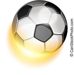 Soccer sport ball in fire