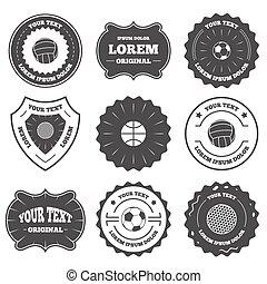 soccer., sport, balls., volley-ball, basket-ball