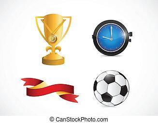 soccer sport icons illustration