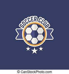 Soccer sport team isolated vector emblem
