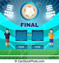 Soccer Stadium Final Match Illustration