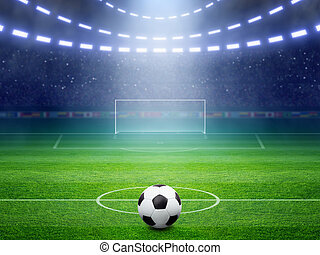 Soccer stadium - Soccer background, soccer ball, soccer...