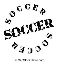 soccer stamp on white