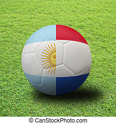 soccer Championship . Final 4 teams round. Argentina vs...