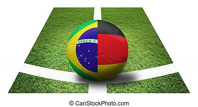 soccer Championship . Final 4 teams round. Brazil vs...