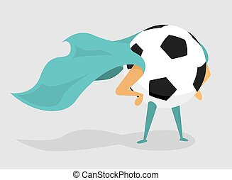 Soccer super hero ball with cape