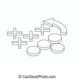 Soccer tactics icon, isometric 3d style