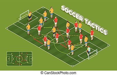 Soccer Tactics Isometric Background