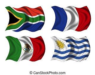soccer team flags group A