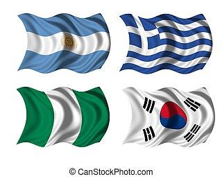 soccer team flags group B