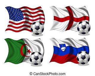soccer team flags group C