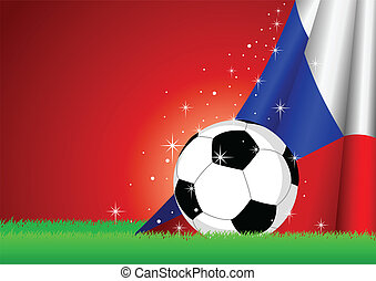 Soccer Theme - Vector illustration of a soccer ball with...