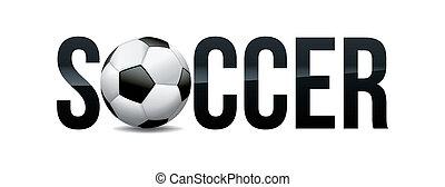 Soccer Theme Word Art Illustration