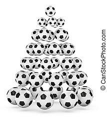 Soccer Themed Christmas Tree - Soccer/football themed...