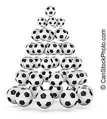 Soccer Themed Christmas Tree - Soccer/football themed...