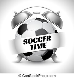 Soccer Time. Concept on Sport Football Theme. Time to Play...