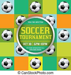 Soccer Tournament Illustration - A nice design for a soccer...