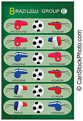 Soccer Tournament of Brazil 2014 Group E