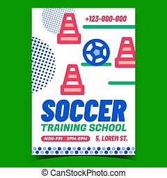 Soccer Training School Promotional Banner Vector