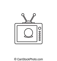 Soccer Tv Fan Vector Illustration Of A Funny Chubby Man Sitting On