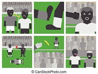 Soccer unsportsmanlike conduct - Vector soccer...