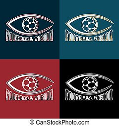 soccer vision vector design template