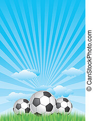 soccer with blue sky