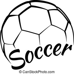 Soccer with Fun Text - Stylized vector illustration of a...