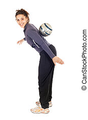 soccer woman practise