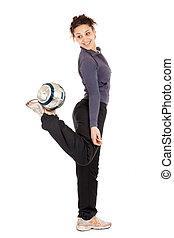 soccer woman pratice