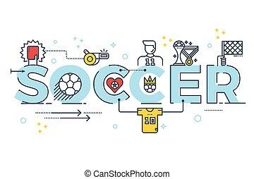 Soccer word lettering