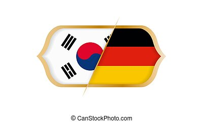 Soccer world championship South Korea vs Germany. Vector illustration.